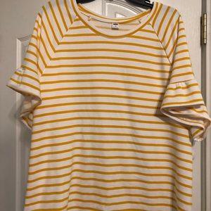 Yellow stripped shirt